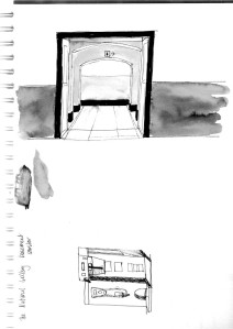 160211 National Gallery sketch 04 ladies and coffee machine for web