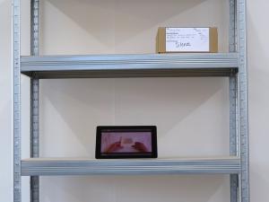 160414 Interim Exhib 03 installation close up TTSU film and Silence