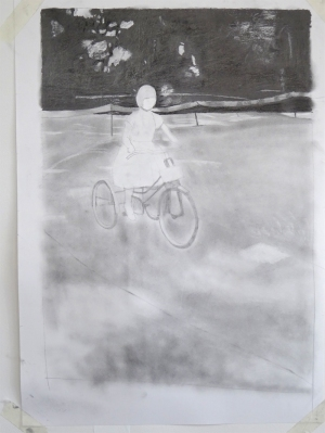160610 Su on tricycle 02 graphite powder for web