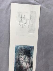 160818 Intaglio Induction 11 embossed offset layered print, dark layered print